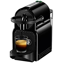 Nespresso D40-US-BK-NE Inissia Espresso Maker, Black (Discontinued Model) 4 BARISTA GRADE: Nespresso Inissia by Breville offers an impeccable single serve coffee or espresso cup every time, thanks to its automatic operation and patented extraction system which delivers up to 19 bars of pressure. The Inissia is the perfect coffee machine that fits perfectly into any interior design. FAST: Eliminate the wait time with how fast the water reaches the ideal temperature in less 25 seconds in a single touch. This automatic coffee machine gets your perfect cup of coffee or espresso to you fast. ENERGY EFFICIENT COFFEE MACHINE: Brew two different cup sizes; Espresso (1.35 oz) and Lungo (5 oz), with just the touch of a button. Pour over ice to create your favorite iced coffee drinks. With the smart energy saving mode automatically switches off our coffee maker after 9 only minutes.
