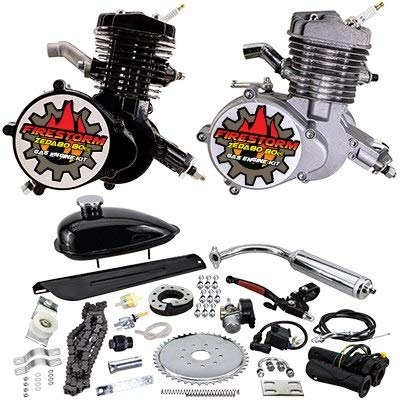 Fantastic Deal! Zeda 80 Complete 80cc Bicycle Engine Kit - Firestorm Edition (Black (+$10.00),36 Too...