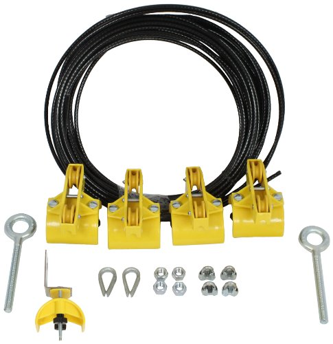 KH Industries FTSW-FL-KIT20 Festoon Stretch Wire Kit with 20' Length for Flat Cable System