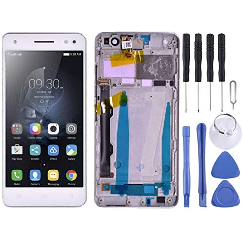 GUPENG Screen Replacement for Lenovo, Screen Replacement Touch Display LCD Digitizer Assembly With Front Facing Camera Proximity Sensor, for Lenovo Vibe S1 Lite S1LA40 (Color : White)