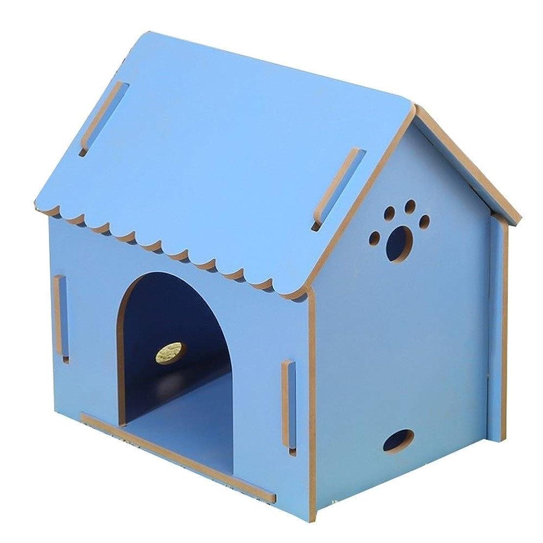 囚人写真のスワップ木製ペットベッドボード、それを分解アニマルシェルター用品可能な屋外のウサギのケージを移動することができます (Size : L)