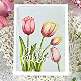 wifndtu - fustella in metallo a forma di tulipano, per fustellatura fai da te e album fustella.