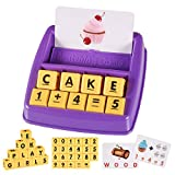 Kearui Educational Toys for 3-8 Year Old Boys Girls, Matching Letter Games for Kids, Learning & Education Toys for Kids 5-7, Birthday Gifts for Girls Age 3-6 (Purple)