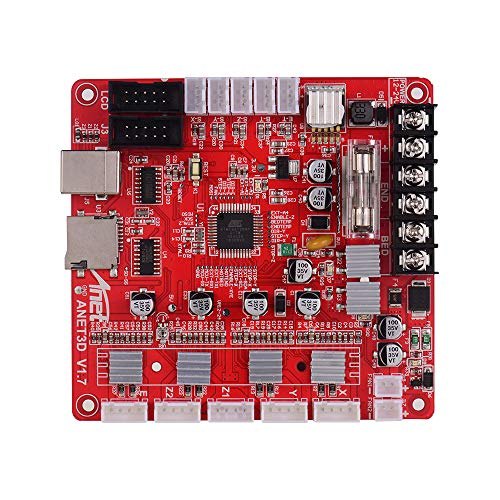 Tickas 3D Printer Mainboard, A1284-Base V1.7 Base Control Board Mother Board Mainboard for A8 Plus DIY Self Assembly 3D Desktop Printer RepRap i3 Kit Upgrade Supplies 24V