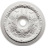 Punto Focal 8852828(Emma patrimonio medallón 28(por 28(por 23/4), color blanco