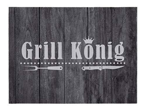 andiamo Grillmatte BBQ, robust, mehrer Grilldesigns & Größen Rechteck & Rund, Größe:90 x 120 cm, Farbe:Grill König