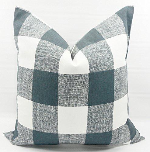 Gunmetal Grey & white Buffalo check Pillow cover. Sham cover. Select size.