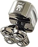 Skull Shaver Pitbull Platinum PRO Electric Razor - Wet/Dry 4 Head 4d Cordless USB Rechargeable Rotary Shaver