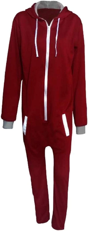 TDCACA Men's Fashion Hoodie One Piece color Block Drawstring Sweatsuit