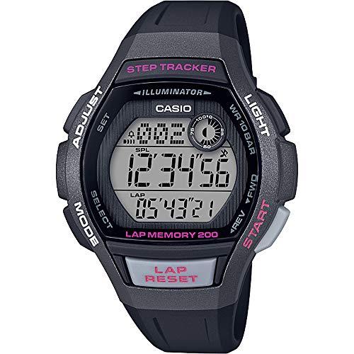 CASIO Damen Digital Quarz Uhr mit Harz Armband LWS-2000H-1AVEF