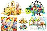 3in1 Lernmatte Erlebnisdecke Krabbeldecke Bällebad Spielbogen Spieldecke Spielmatte Löwe Schildkröte ab 0 Monaten ekmTRADE (Schildkröte)