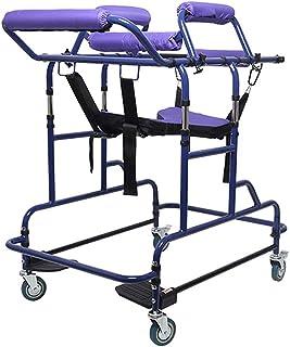老年人步行器-高度可调便携医疗步行器,站立式折叠步行器步行包直立式滚动可移动步行仿真,单麻仿生操纵架