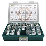 Sortiment M3 + M4 ISO 7380-1 Edelstahl A2 (V2A) Flachrundkopfschrauben Innensechsrund (Torx) - Set mit Schrauben, Scheiben (DIN 125, 127, 9021) und Muttern (DIN 934, 985) - 1200 Teile