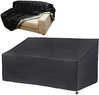 Funda de banco, 2/3/4 plazas, cubierta larga para silla de jardín, 210D, impermeable, tela Oxford resistente a los rayos UV y al agua, funda de asiento (162 x 66 x 60/89 cm -3 asientos)