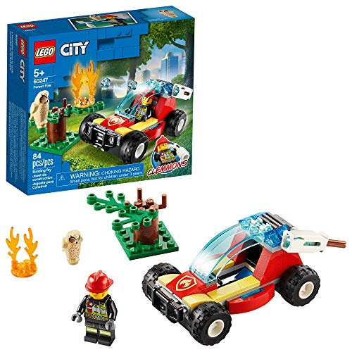 LEGO City Forest Fire 60247 Firefighter Toy, Cool Building Toy for...