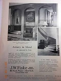 Advertisement for J. W. Fiske Iron Works