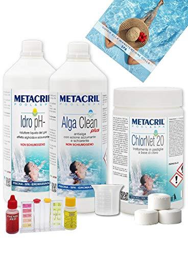 Metacril Chlor Starter Kit para tratamiento de agua a base d