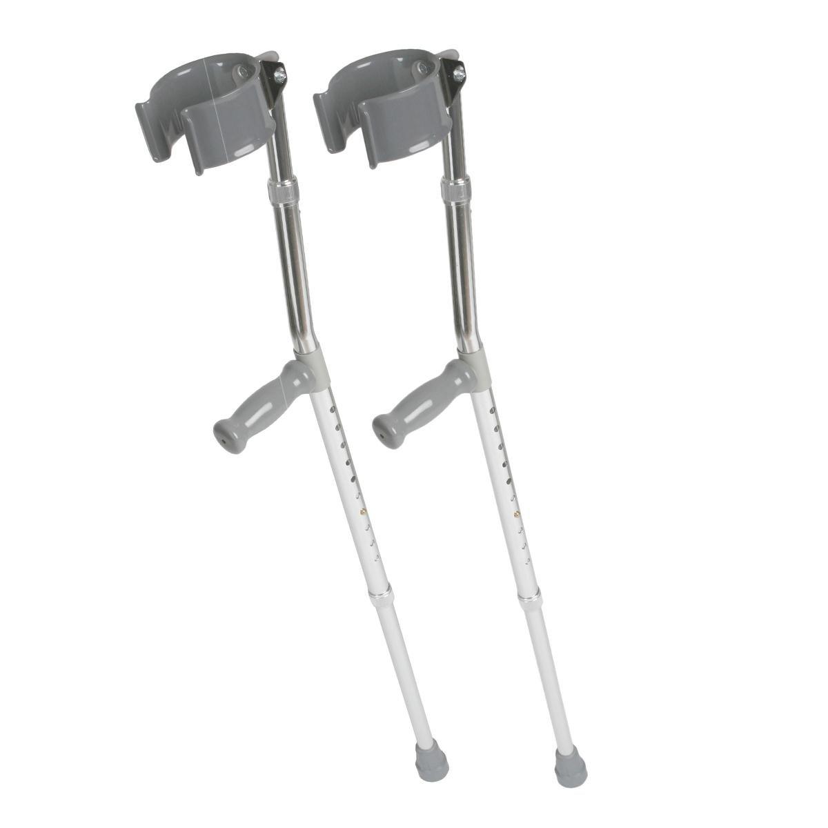 Medline MDS805160 Aluminum Forearm Crutches