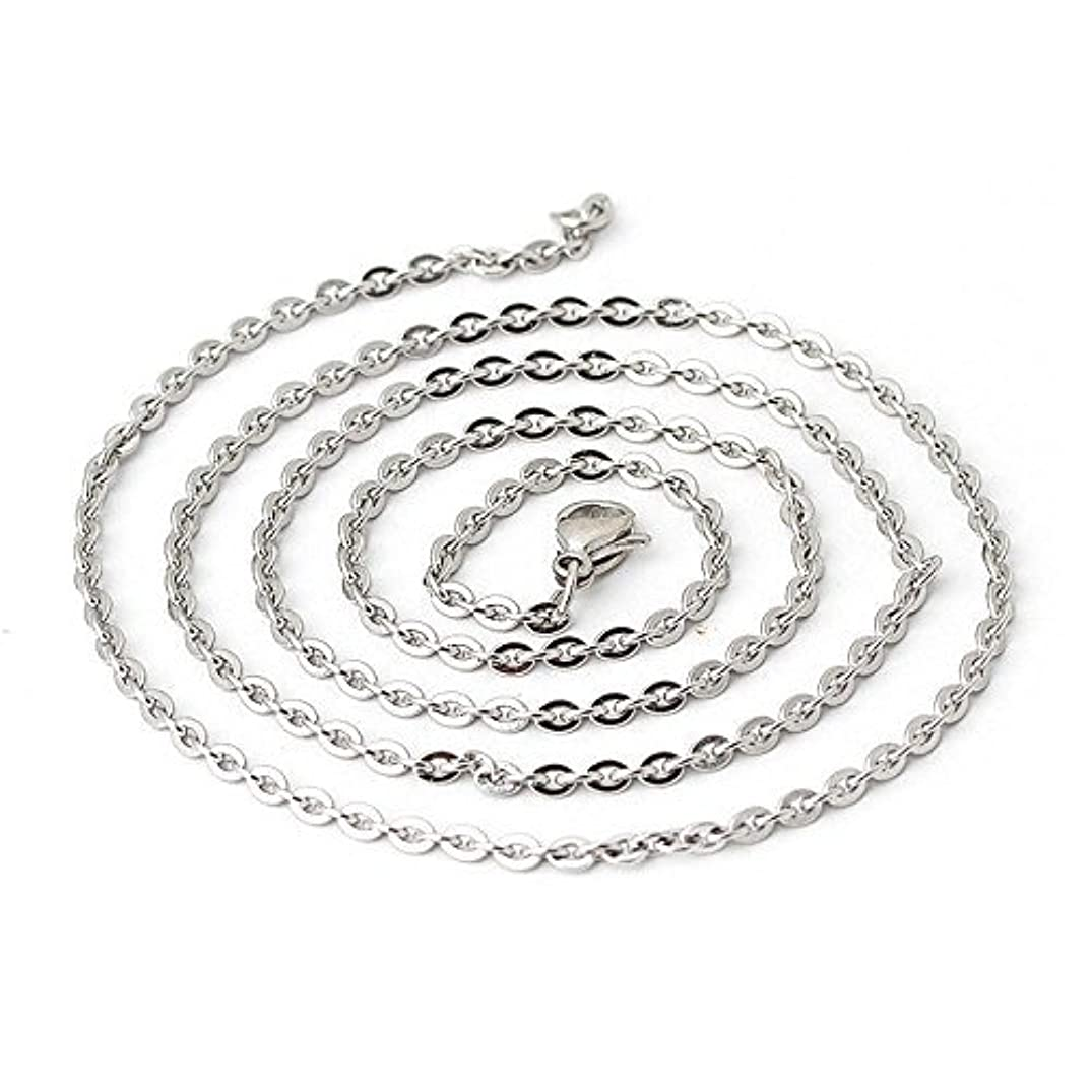 Wholesale 12 PCS Genuine Stainless Steel Fine Cable Chain Necklace Chains Bulk for Jewelry Making 18-30 Inches (18 Inch(1.5MM))