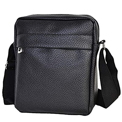 Charmoni® - Sac pochette sacoche à bandoulière et sa porte clé cuir en cuir synthétique