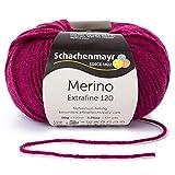 Schachenmayr Hilos para Tejer A Mano Merino Extrafine 120, 50G Burgundy