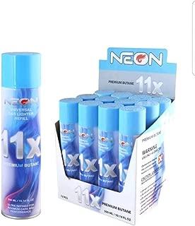 Neon 11x Ultra Refined Butane Fuel Lighter Refill Gas