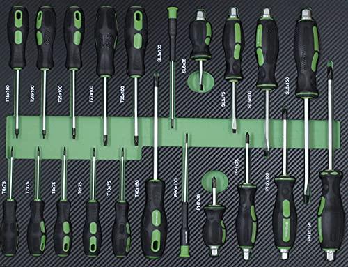 TrutzHolm® Werkstattwagen Premium XXL bestückt Profi-Werkzeug aus Chrom-Vanadium 7 Schubladen und ein Seitenfach gefüllt Assistent Werkzeugwagen - 6