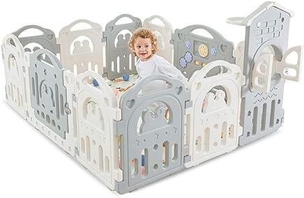 GWFVA Baby fence child safety fence plastic shelter babysitting park crawling carpet