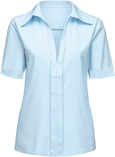 Loolik Blusa de Mujer Camisa de Manga Larga para Mujer Formal ...