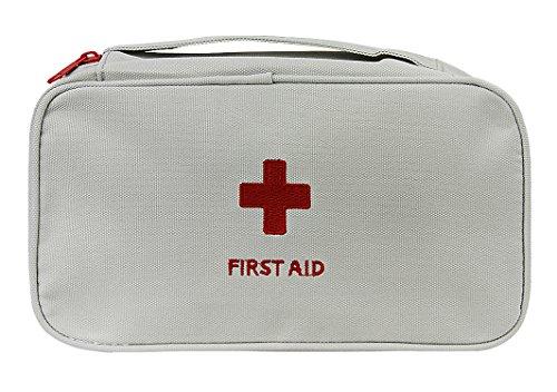 Oxford Gewebe Medizintasche, Reiseapotheke Tasche, Betreuertasche für Familien Erste Hilfe Tasche Notfalltasche Rot/Grau
