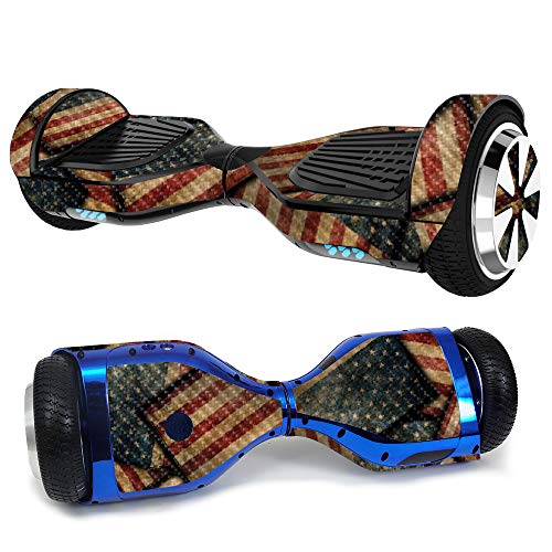 MightySkins Carbon Fiber Skin for Ultra Hoverboard - Vintage American | Protective, Durable Textured Carbon Fiber Finish | Easy to Apply, Remove, and Change Styles | Made in The USA