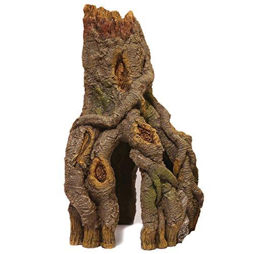 Rosewood 915712 Aquariumdeko Baumstamm mit Wurzeln für Ecken, Large
