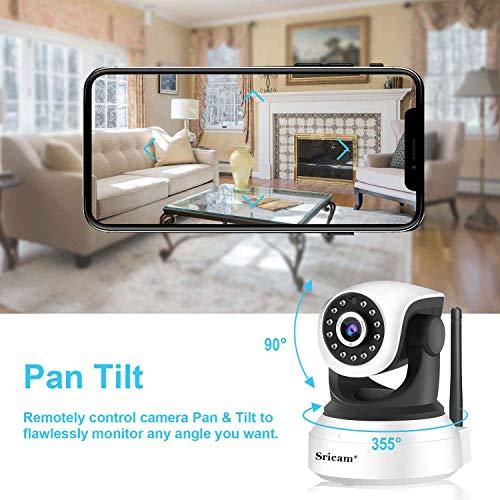 Sricam SP017 WLAN IP Kamera Überwachungskamera (Linsenschwenkung- und Neigung, 1080p-Auflösung, 2-Wege-Audio, Nachtsicht zu 10m, bis zu 128 GB lokaler Speicher auf SIM Karte)