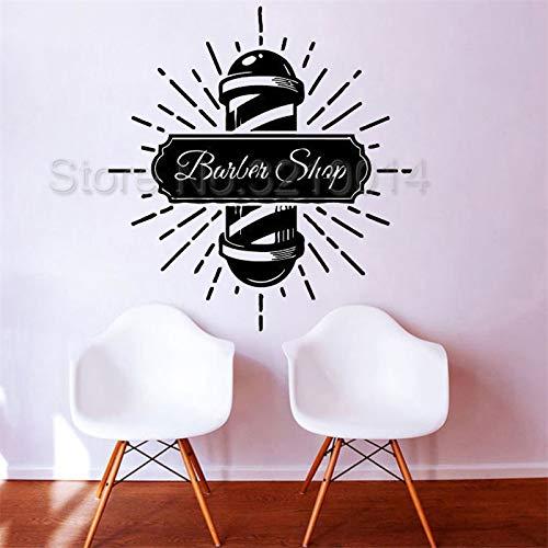 zaosan Etiqueta de la Pared Barber's Pole Swirl Logo Etiqueta de la Pared Decoración de la peluquería Arte de Vinilo removible Poster Mural Salon Decor 42X45cm