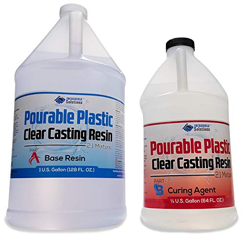 Pourable Plastic Deep Pour Up To 2' Thick USA Manufactured Clear Casting Resin 1.5 Gallons Kit Perfect For River Tables & Castings – Low Odor Epoxy, a 2:1 Ratio