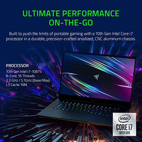 15-inch Razer Blade 15 with 4K LED Touch display, 8-core i7-10875H and GeForce RTX 2080