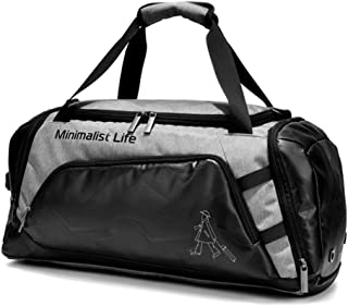 Travel Duffle Bag, Sports Duffle Bag with Shoes Compartment and Wet Pocket, Crossbody Bag (Color : Gray, Size : Large)