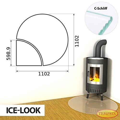 Open haard vloerplaat Edmonton tweedelige glasplaat ijslook seizoensplaat oven inlegplaat bodemplaat
