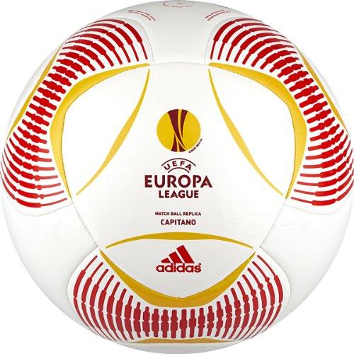 adidas Predator Europa League Capitano - Balón de fútbol - W44727-5, 5, White, Red, Yellow