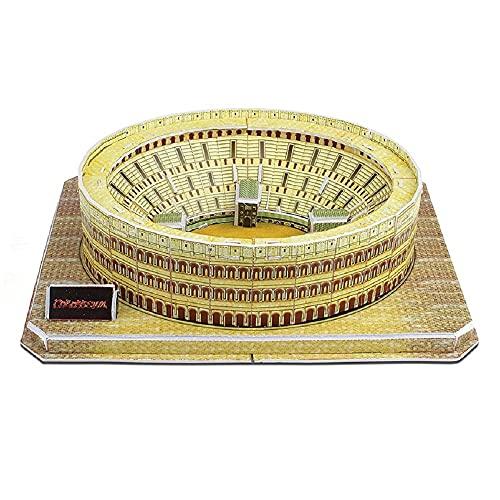 Puzzle 3D Coliseo Romano Rompecabezas 3D para Niños y Adultos para Construir Monumento sin Herramientas