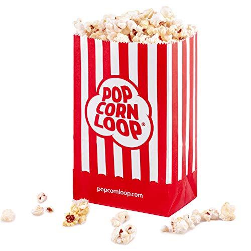 La original palomitas Loop palomitas bolsas 10x 6Paquetes 60unidades en total material de papel experiencia de cine en casa
