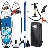 Wassersport F2 Ocean 9'2' SUP Set Kinder Stand Up Paddle Board ISUP mit 3-teiliges Alu Paddel 280x67cm