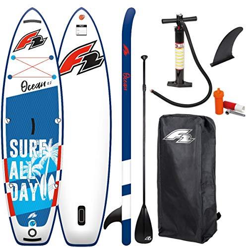Wassersport F2 Ocean SUP - Tabla de surf de remo para niños (280 x 67 cm, incluye 3 remos de aluminio)