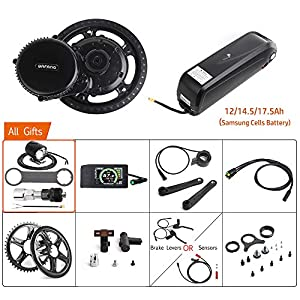 Electric Bikes Bafang 48V 750W Mid Drive Electric Bike Conversion Kit with HMI Display BBS02B 8FUN Mid Motor for Bike Kit with 48V Ebike Battery