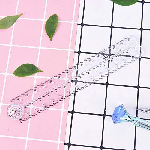 N/P 1pc Regla Plegable de plástico Transparente 30Cm Dibujo Estudiante Niños Papelería Material Escolar S