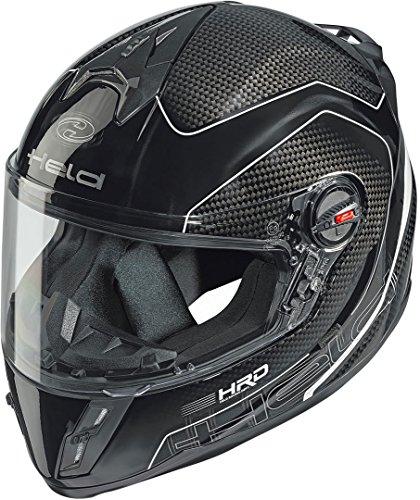 Held Scard Kinder/Damen Carbon Motorradhelm L Schwarz/Weiß