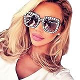 rawdah occhiali da sole donna moda occhio di gatto artificiale vintage retro diamante gatto orecchio quadrato metallo telaio marca classico cat eye triangle uv 400 sunglasses (d)