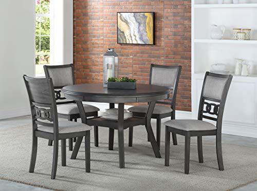 New Classic Furniture Gia Round Dining Set, Gray
