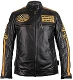 Motorrad Retro Lederjacke aus echtem Leder (M)