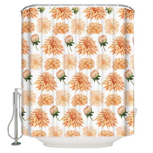 cortinas dormitorio naranja y gris